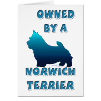 Besessen durch ein Norwich Terrier Karte