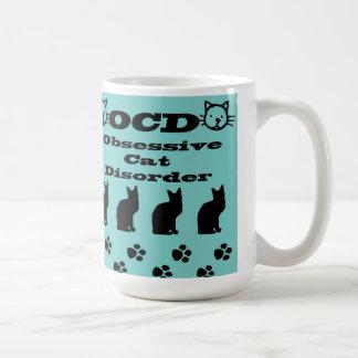 Besessene Katzen-Störung Mug~Blue/Black Kaffeetasse