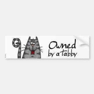 besessener Tabby Autoaufkleber