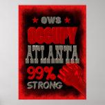 Besetzen Sie Atlanta starkes 99% Plakatdruck