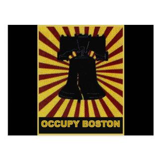 Besetzen Sie Boston-Flyer im Oktober 2011. Postkarte
