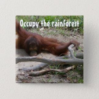 Besetzen Sie den Regenwald Quadratischer Button 5,1 Cm