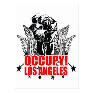 Besetzen Sie Los Angeles Postkarte