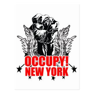 Besetzen Sie New York Postkarte