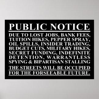 Besetzen Sie öffentliche Bekanntmachungs-Plakat