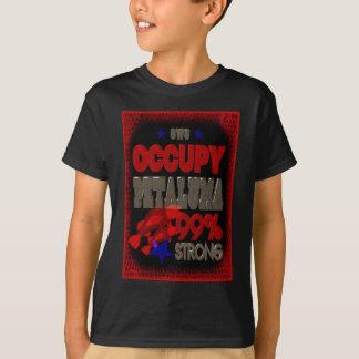 Besetzen Sie Petaluma OWS starkes Plakat Protestes T-Shirt