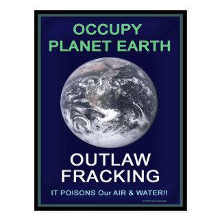 Besetzen Sie Planeten-Erde - geächtete Fracking Postkarte