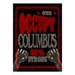Besetzen Sie Protest Columbus OWS 99 Prozent stark Plakatdrucke