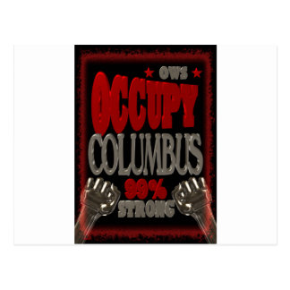 Besetzen Sie Protest Columbus OWS 99 Prozent stark Postkarte