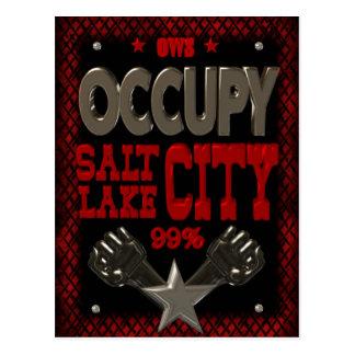 Besetzen Sie Protest Salt Lakes OWS 99 Prozent Postkarte