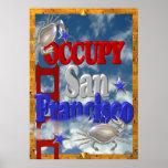 Besetzen Sie Protest San Francisco Zeichen Poster