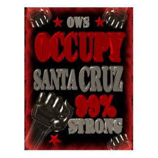 Besetzen Sie Santa- Cruzeinzelteile Postkarte
