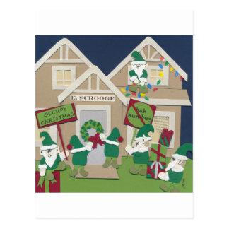 Besetzen Sie Weihnachten Postkarte