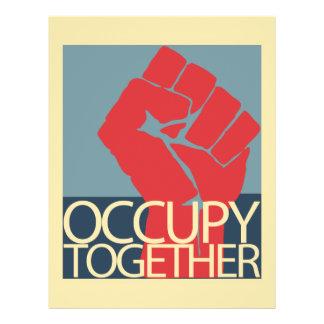 Besetzen Sie zusammen Protest-Kunst-Occupy Wall St 21,6 X 27,9 Cm Flyer