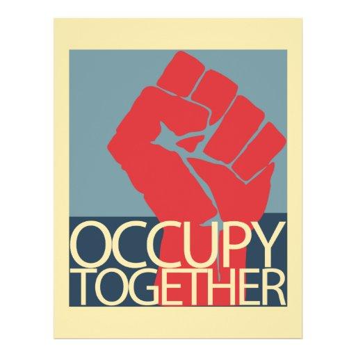 Besetzen Sie zusammen Protest-Kunst-Occupy Wall St Individuelle Flyer