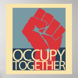 Besetzen Sie zusammen Protest-Kunst-Occupy Wall St Plakate