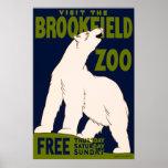 Besichtigen Sie den Brookfield Zoo Plakatdruck