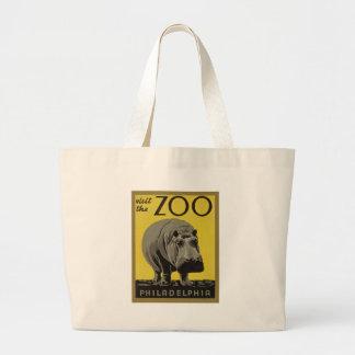 Besichtigen Sie den Philadelphia-Zoo Jumbo Stoffbeutel