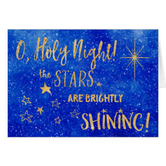 Besitzt heiliges Blau O NachtgoldFoto-Weihnachten Karte
