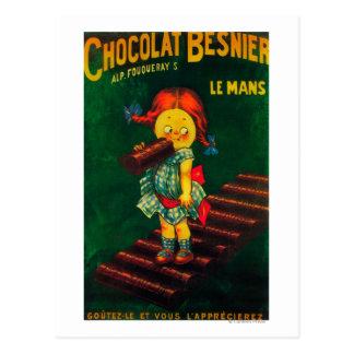 Besnier Schokoladen-förderndes Plakat Postkarte