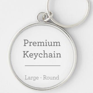 Besonders angefertigt ringsum Foto Keychain Silberfarbener Runder Schlüsselanhänger