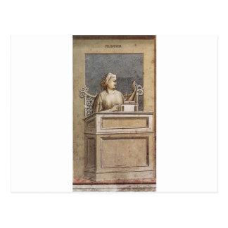 Besonnenheit durch Giotto Postkarte