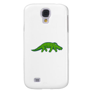 Besorgter Alligator Tiptoing Retro Galaxy S4 Hülle