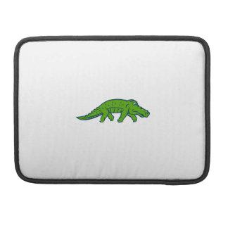 Besorgter Alligator Tiptoing Retro MacBook Pro Sleeve