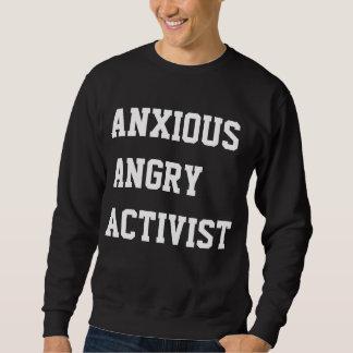 Besorgter verärgerter Aktivist Sweatshirt