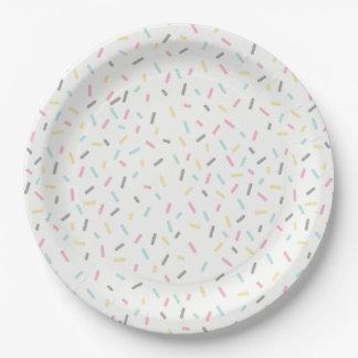 Besprühen Sie den Party-Teller (weiß) Pappteller