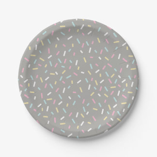 Besprühen Sie die Party-Platte (grau) Pappteller 17,8 Cm