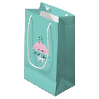 Besprühen Sie Liebe-blaue und rosa Kleine Geschenktüte