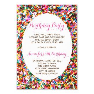 Besprüht Geburtstags-Party 12,7 X 17,8 Cm Einladungskarte