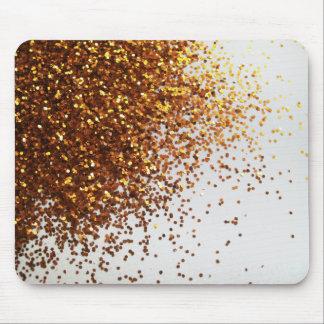 Besprühter GoldGlitter grafisches horizontales Mou Mousepads