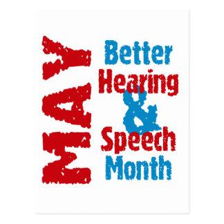 Bessere Anhörung u. Sprache-Monat Postkarte