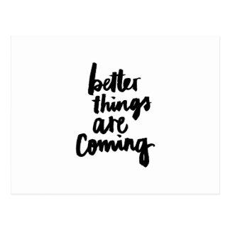 Bessere Sachen sind kommendes inspirierend Zitat Postkarte