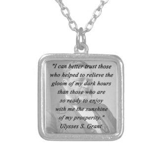 Besseres Vertrauen - Ulysses S Grant Versilberte Kette