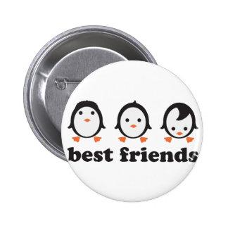 best friends - Pinguine Anstecknadelbutton