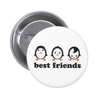 best friends - Pinguine Runder Button 5,1 Cm