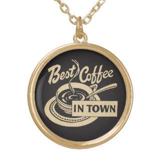 ❝Best Kaffee in Town❞ Vergoldete Kette