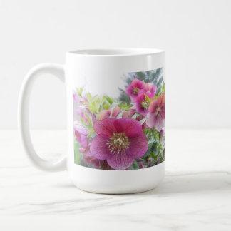 Beständige Pflanzen - lila Hellebore Kaffeetasse