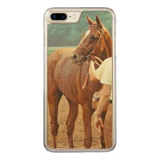 Bestätigtes Thoroughbred-Rennpferd 1978 Carved iPhone 8 Plus/7 Plus Hülle