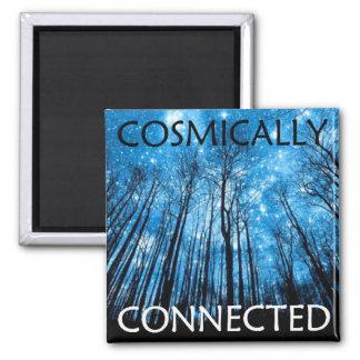 Bestätigungs-Magnet - kosmisch angeschlossen Quadratischer Magnet