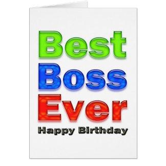 Beste Chef-überhaupt Geburtstags-Karte für Ihren