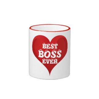 Beste Chef-überhaupt rote Herz-Liebe-Tasse Ringer Tasse