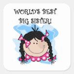 Beste die große Schwester-Geschenke der schwarzes  Aufkleber