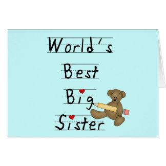 Beste die große Schwester-T-Shirts und Geschenke Grußkarte