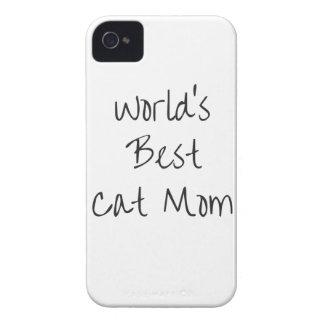 Beste die Katzen-Mamma der Welt - Schwarzes iPhone 4 Case-Mate Hülle