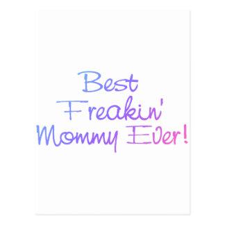 Beste Freakin Mama überhaupt (Pastell) Postkarte