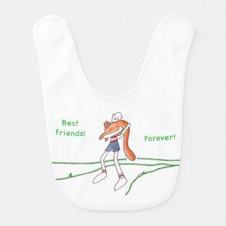 Beste Freund-für immer Baby-Schellfisch Babylätzchen